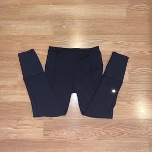 Black Cropped Lululemon Leggings